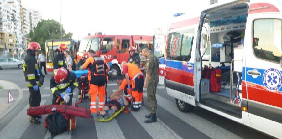 Modlin Twierdza: Strażak po służbie udzielił pierwszej pomocy
