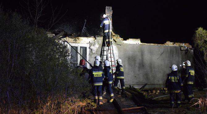 Zakroczym: Nocny pożar domu jednorodzinnego