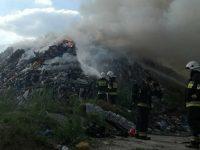 Jaskółowo: Pożar na wysypisku śmieci