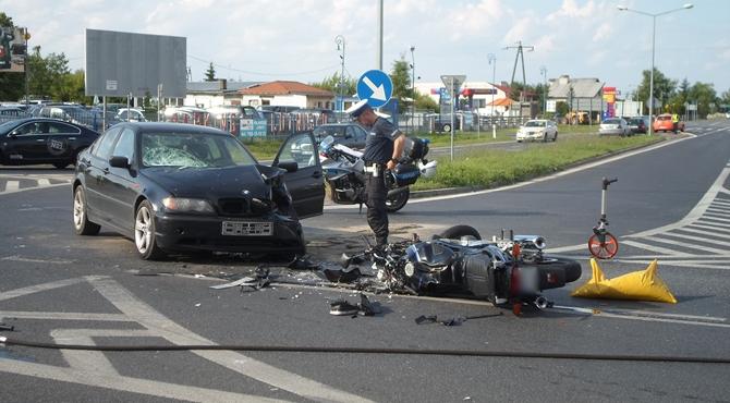 Nowy Dwór Maz: Kolejny wypadek z udziałem motocyklisty