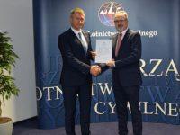 Certyfikat dla lotniska Warszawa-Modlin