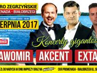 Koncerty gigantów! SŁAWOMIR, AKCENT i EXTAZY już 14.08 nad Jeziorem Zegrzyńskim!
