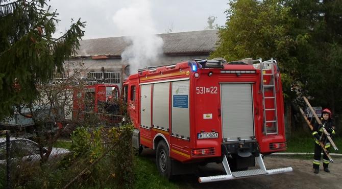 Cybulice Małe: Pożar budynku gospodarczego