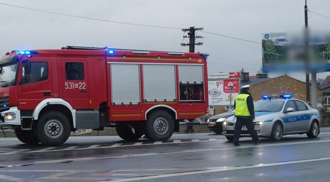 Nowy Dwór Maz/Pomiechówek: Plama oleju na DK62