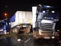 Wójtostwo: Zderzenie dwóch samochodów ciężarowych