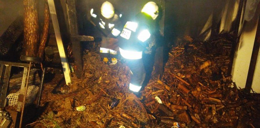 Pieńków: Pożar budynku gospodarczego