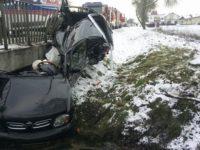 Powiat: Śnieg zaskoczył kierowców. Doszło do wielu kolizji