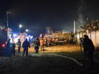 Cybulice Małe: Pożar hali w składzie celnym