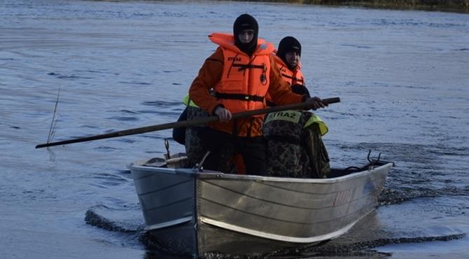 Stan alarmowy na rzece Wkrze
