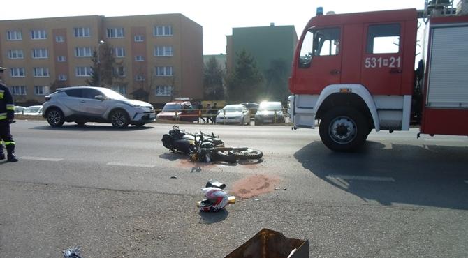 Nowy Dwór Maz: Wypadek motocyklisty