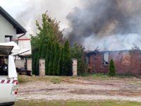 Nowe Pieścirogi: Spłonął budynek komunalny
